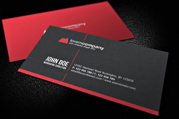 визитка красная