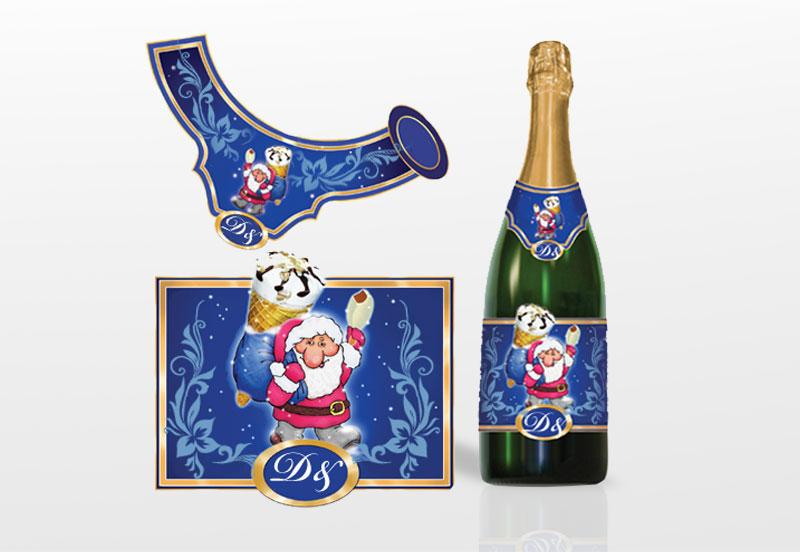 Как создать наклейки на шампанское
